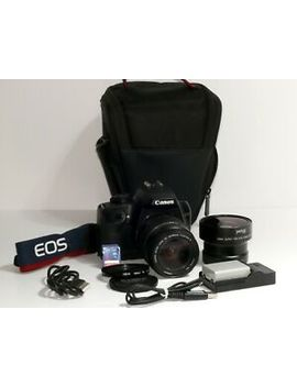 Canon Eos 1000d 10.Mp Dslr Camera With Ef 28 80mm Usm & Fisheye Lens + Extras by Ebay Seller