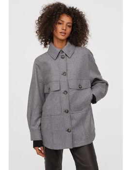 Skjortejakke I Ullmiks by H&M