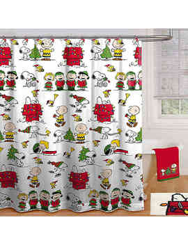 Peanuts™ Holiday 70 Inch X 72 Inch Shower Curtain With Hooks by Bed Bath And Beyond