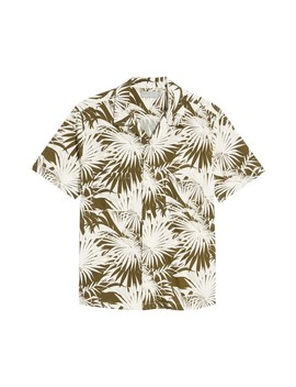 Palm Leaf Cabana Woven Slim Fit Shirt by Vince