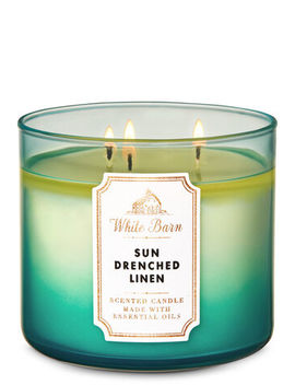 White Barn   Sun Drenched Linen   3 Wick Candle    by White Barn