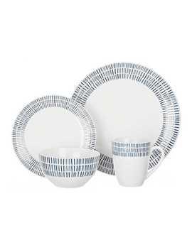 Blue And White Rhythm 16 Pc. Dinnerware Set by Kirkland's