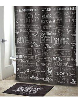 Chalk It Up Shower Curtain & Hooks by Avanti Linens