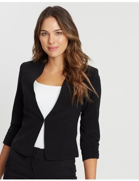 Angelina Cropped Blazer by Forcast