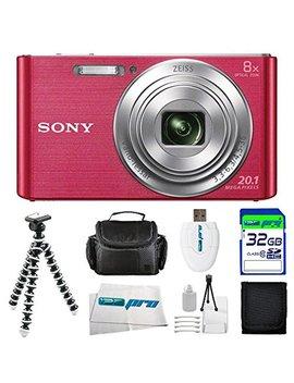 Sony Dsc W830 Digital Camera (Pink) + 32 Gb Pixi Basic I3e Pro Accessory Bundle by Buzz Photo