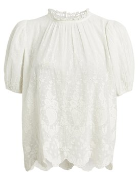Emmie Eyelet Top by Ulla Johnson