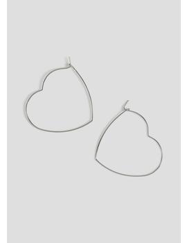 Heart Hoop Earrings by Matalan