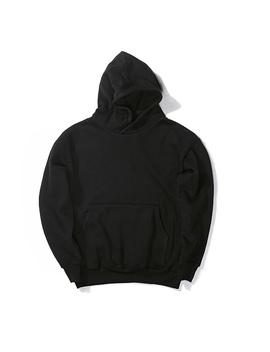 Nouveau Streetwear Pullovers Drake Kanye West Plain Noir Polaire Surdimensionné À Capuche Kpop Vêtements Survêtement Hoodies Hommes Hip Hop by Wish
