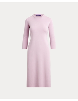 Merino Wool Crewneck Dress by Ralph Lauren