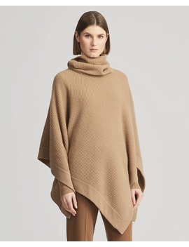 Waffle Knit Cashmere Poncho by Ralph Lauren