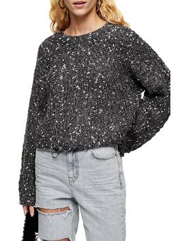 Chevron Crop Sweater by Topshop