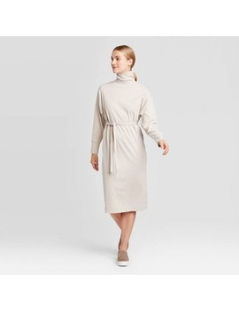 Women's Long Sleeve Mock Turtleneck T Shirt Midi Dress   Prologue™ by Prologue