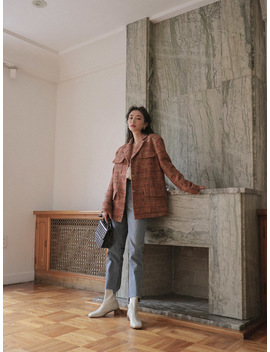 Single Breasted Tweed Blazer by Stylenanda