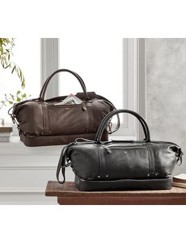 Grant Leather Weekender by Pottery Barn
