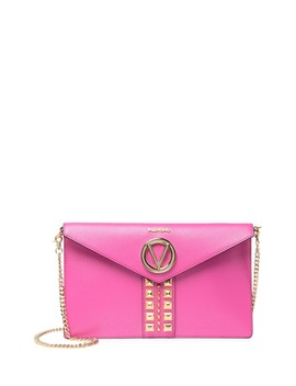 Brienne Studded Leather Clutch by Valentino By Mario Valentino