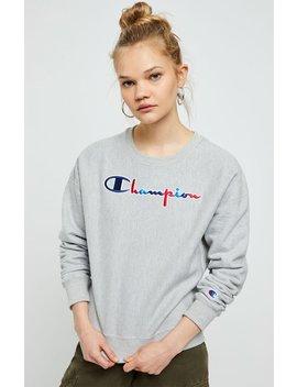 Champion Reverse Weave Three Color Script Sweatshirt by Pacsun