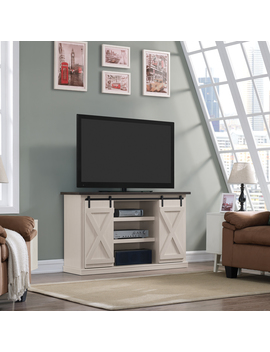 """Twin Star Home Terryville Two Tone Tv Stand For T Vs Up To 60\"""", Old White by Twin Star Home"""