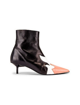 Pointy Kitten Heel Flame Boot by Marques ' Almeida