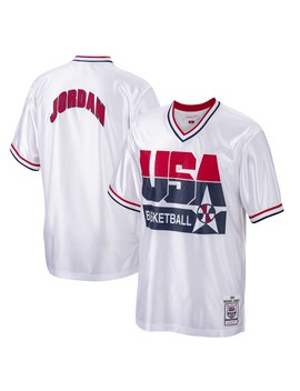 Men's Usa Basketball Michael Jordan Mitchell & Ness White 1992 Dream Team Authentic Shooting Shirt by Nba Store