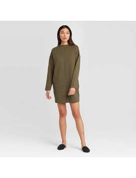 Women's Long Sleeve Mock Turtleneck Scuba Dress   Prologue™ by Prologue