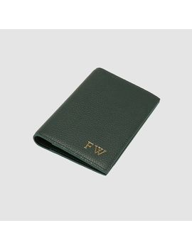 Forest Green Pebbled Passport Holder         Forest Green Pebbled Passport Holder by Tde.