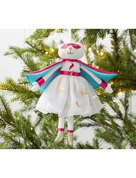 Amazing Kitty Plush Doll Ornament by Pottery Barn Kids
