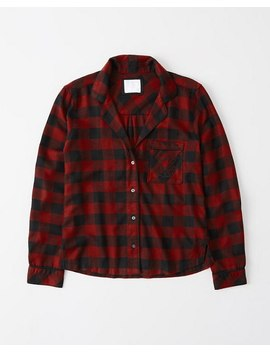 Long Sleeve Sleep Flannel by Abercrombie & Fitch