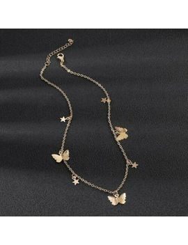 Ladies Womens Butterfly Silver Gold Star Chain Fashion Necklace Uk by Ebay Seller