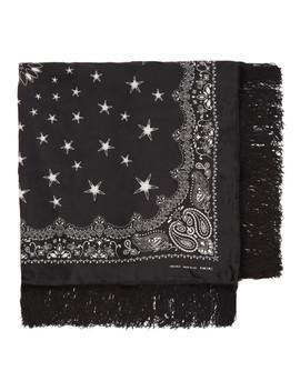 Black Large Bandana Scarf by Amiri