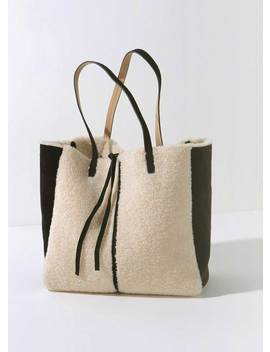Lana Faux Shearling Tote Bag by Mint Velvet
