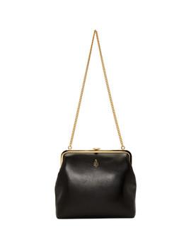 Black Susanna Frame Pouch Bag by Mark Cross