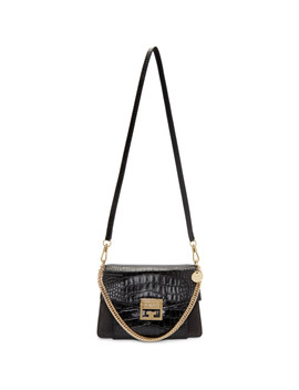Black Small Croc Gv3 Bag by Givenchy