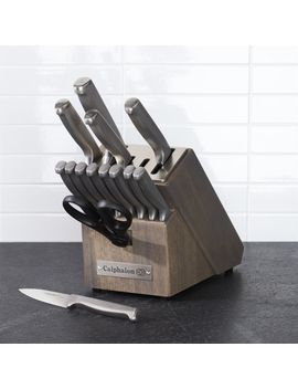 Calphalon Stainless Steel 15 Piece Knife Block Set With Sharp In™ Technology by Crate&Barrel