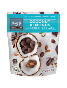 Edward Marc Coconut Almonds With Dark Chocolate, 32 Oz by Edward Marc Chocolatier