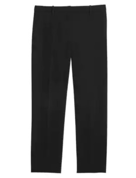 Crepe Cropped Tailered Trousers by Theory