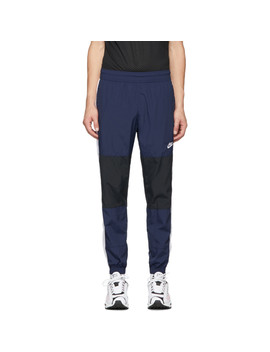 Navy & Black Re Issue Woven Track Pants by Nike