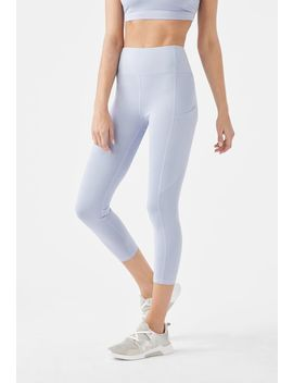 High Waisted Cropped Pocket Leggings by Justfab