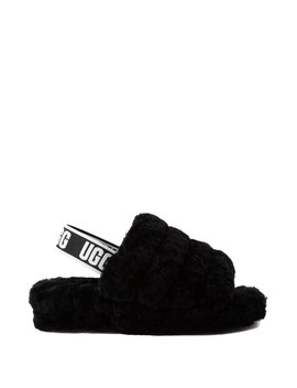 Womens Ugg® Fluff Yeah Slide Sandal   Black by Ugg
