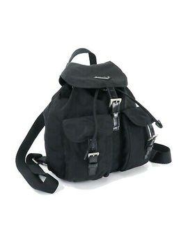 Authentic Prada Black Nylon Backpack Bag Purse #32174 by Prada