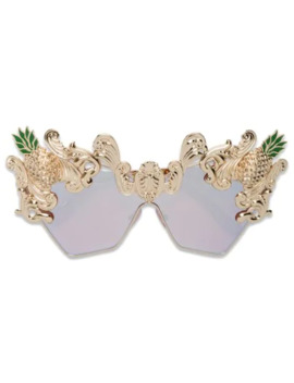 Cat Eye Pineapple Sunglasses by Dolce & Gabbana Eyewear