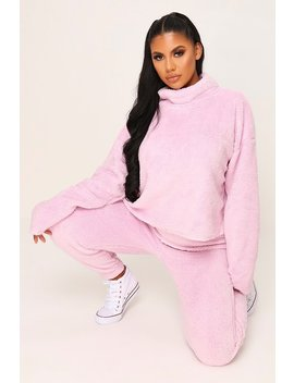Baby Pink Crop Teddy Jumper by I Saw It First