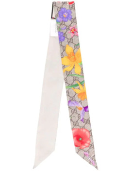 Gg Flora Neck Tie by Gucci