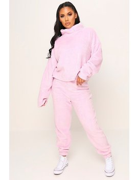 Baby Pink Teddy Joggers by I Saw It First