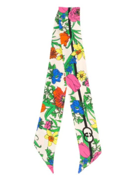 Floral Print Neck Scarf by Gucci