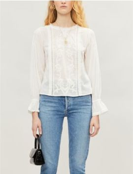 Bessie Embroidered Cotton Blouse by Reformation