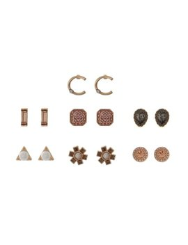 Time & Tru 7 Pair C Initial Earring Set by Time And Tru
