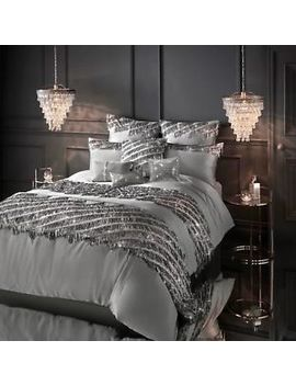 Kylie Minogue Bedding Eliza Pewter / Grey Duvet Cover Set   5 Items by Kylie Minogue