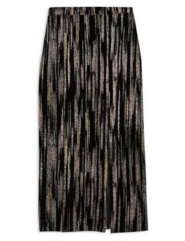 Metallic Spot Plissé Pants by Topshop