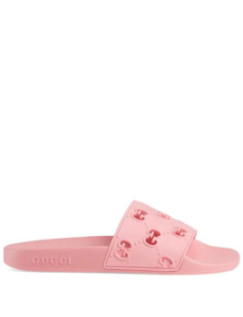 Rubber Gg Slide Sandals by Gucci