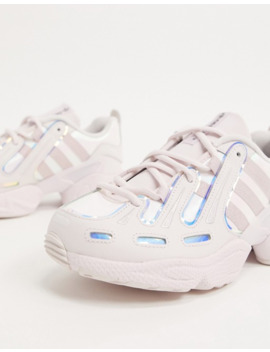 Adidas Originals Eqt Gazelle Trainers In Metallic Pink And Silver by Adidas